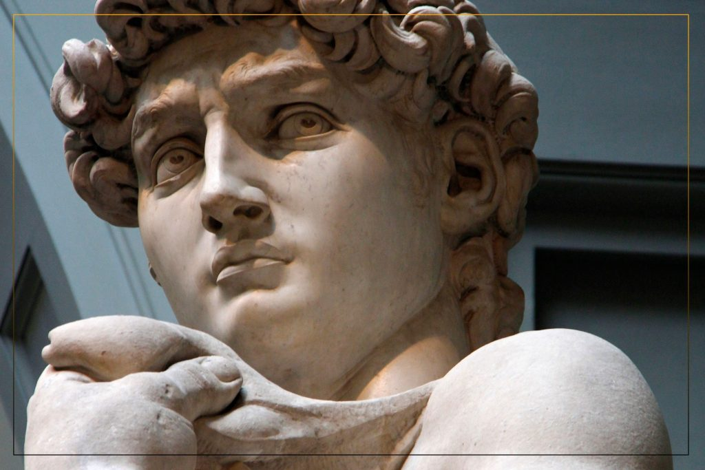 David created out a 17 feet block of Marble , with this Master Sculpture  Michael Angelo Change  the Porpuse  Of Art.