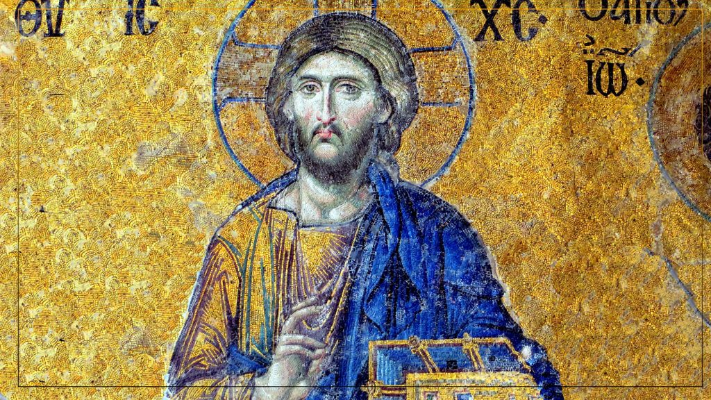 Mosaic  Of Jesus this total hard work of hundreds  of small  pieces together  to create  the most beautiful  image of Chist.