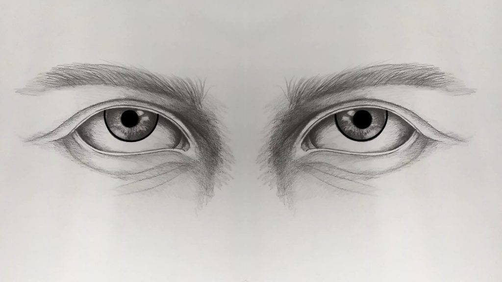 Pencil Drawing  of The Eyes
